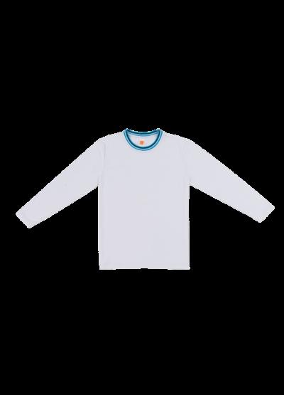 SJ0700 WhiteOren Sport Single Jersey Long Sleeve Round Neck Tee