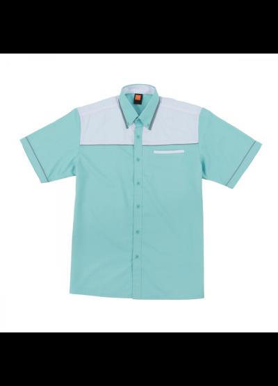 F13817 Turquoise Oren Sport F1 Uniform Short Sleeve