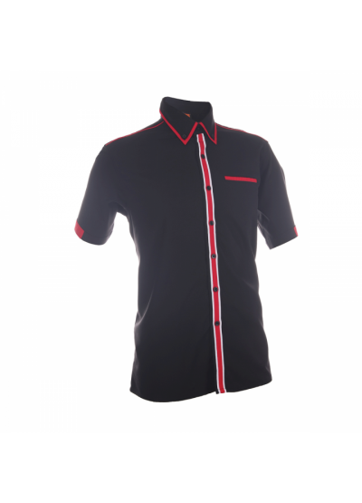 F13202 Black Oren Sport F1 Uniform Short Sleeve