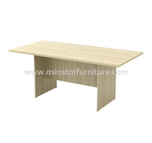 RECTANGULAR MEETING TABLE OFFICE WITH WOODEN BASE AEXV 18