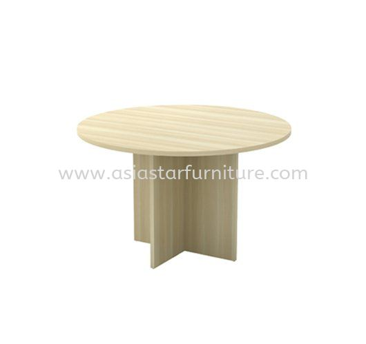 ROUND DISCUSSION OFFICE TABLE WITH WOODEN BASE AEXR 90 (BORAS ASH)