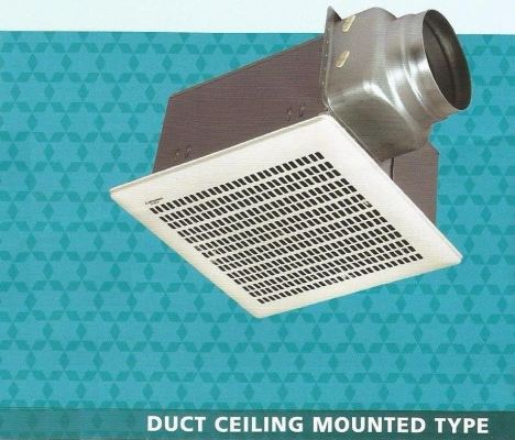 MITSUBISHI  ELECTRIC DUCT CEILING MOUNTED VENTILATION FAN VD-18Z