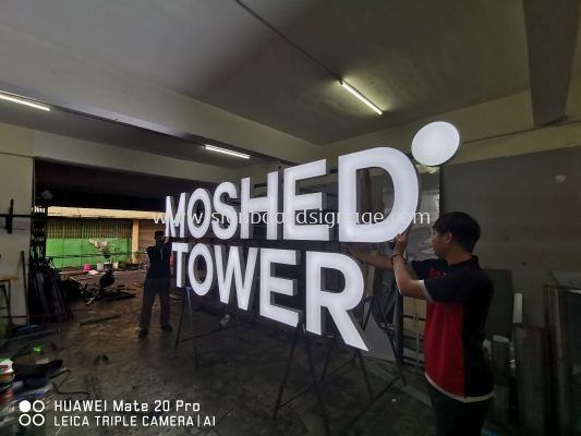 MOSHED TOWER 3D BOX UP LETTERING AT KUALA LUMPUR