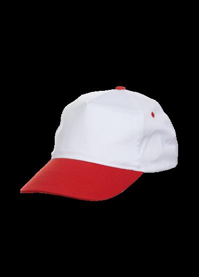 CP0535 White & Red Oren Sport Cap