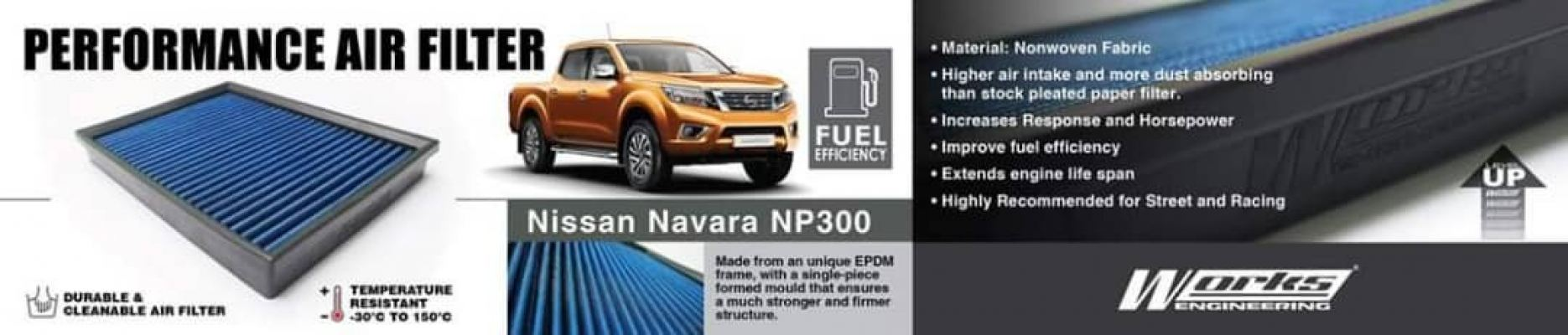 Nissan Navara NP300 Works engineering air filter