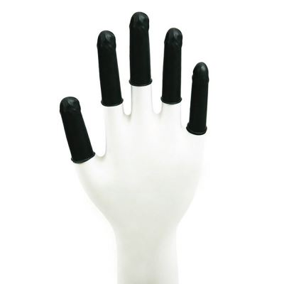 Conductive Latex Finger Cots (Black)