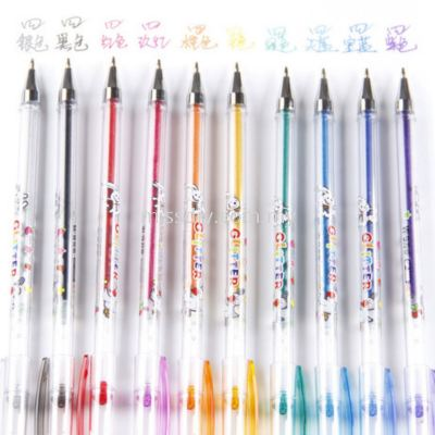 3568, glitter pen 10pcs