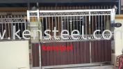 wood colour main gate67 Stainless Steel Wood Colour Main Gate