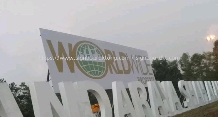 Worldwide Property Giant billboard At setia alam shah alam
