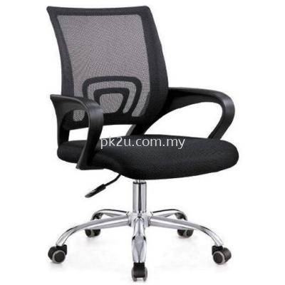 PK-BGMC-4-L-F1-Mesh 2 Low Back Mesh Chair(Chrome Base)