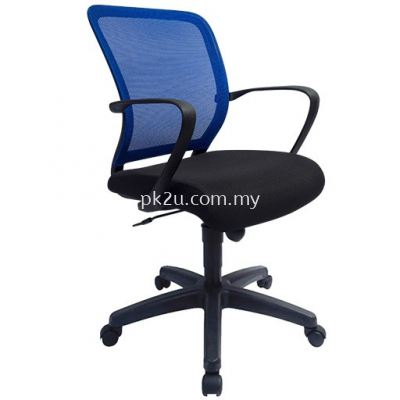 MESH 19 - Low Back Budget Mesh Chair (Plastic Base / Chrome Base / Visitor)