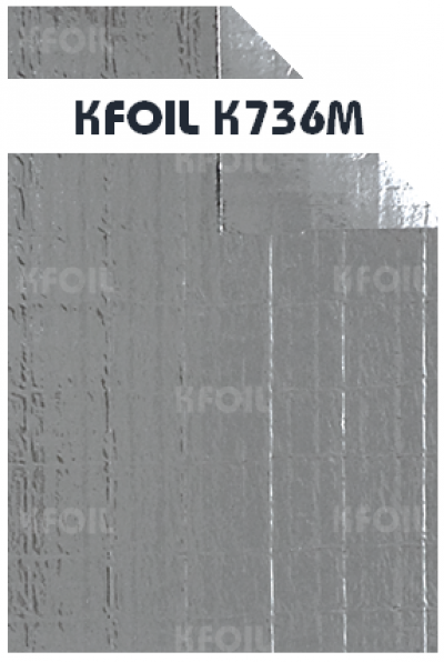 (K736M) D/S Reflective Metallized Paper Film, 8x8 Fiberglass Scrim Reinforced