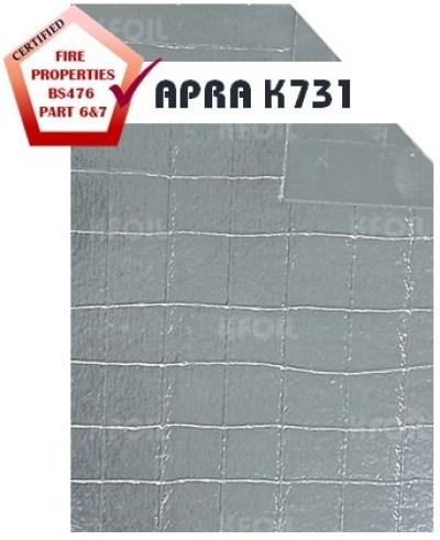 (APRA K731) Fire Retardant Double Sided Reflective Aluminium Paper Foil, 8x8 Fiberglass Scrim Reinforced [BS476 Part 6&7]