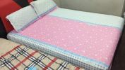 QUEEN 3in1+28cm FITTED SHEET SET-10 3 in 1 Fitted Set King & Queen Bed Sheet