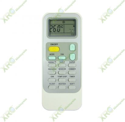 HAC-18VQN HISENSE AIR CONDITIONING REMOTE CONTROL