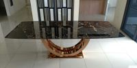 Modern Marble Dining Table For 8-10 Seater Marble Dining Table