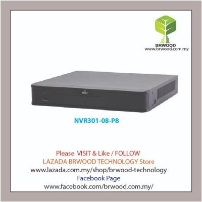 Uniview NVR301-08-P8: 8-ch 1-SATA Ultra 265/H.265/H.264 NVR w/ PoE