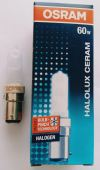 Osram 230V 60W B15d Frosted Halogen Lamp Clear & Frosted Halogen Lamp Halogen Lamps