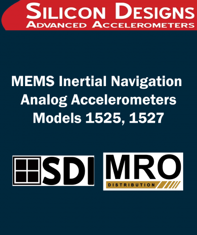 MEMS Inertial Navigation Analog Accelerometers | Models 1525, 1527
