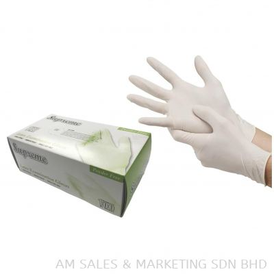 IRONskin Superior Latex Exam Gloves Powder-free L