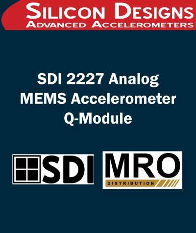 SDI 2227 Analog MEMS Accelerometer Q-Module