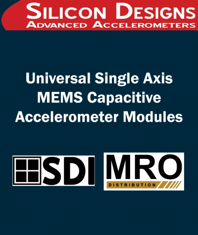 Universal Single Axis MEMS Capacitive Accelerometer Modules