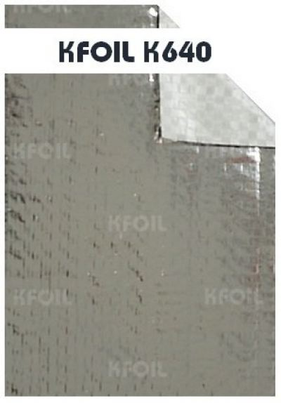 (K640) Single Sided Reflective Metalized Woven Film