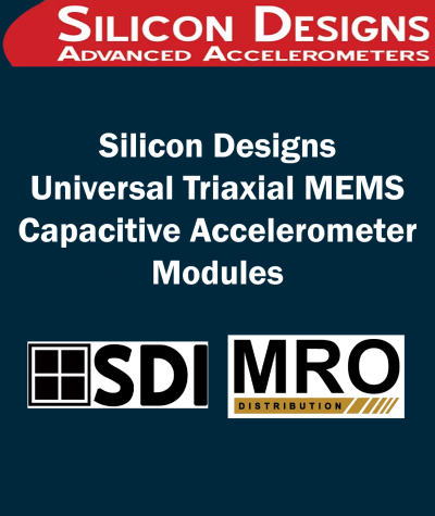 Silicon Designs Universal Triaxial MEMS Capacitive Accelerometer Modules