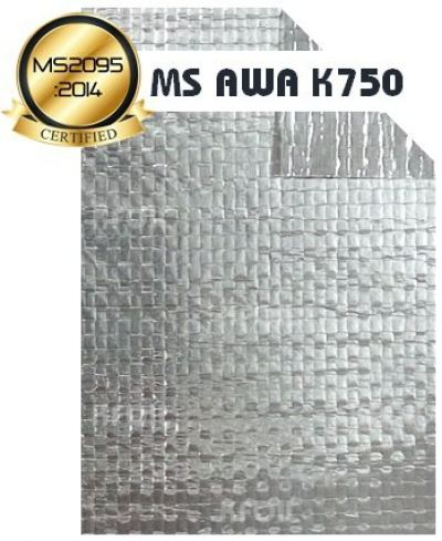 (MS AWA K750) Fire Retardant D/S Reflective Aluminium Woven Foil [BS476 Part 6&7]