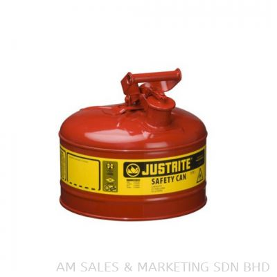 Justrite 2.5 Gallon Safety Can Red (7125100)