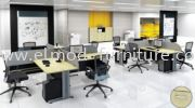 T2 Series Cluster Of 4 Office Workstation
