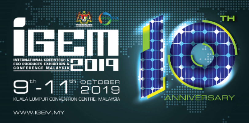 10TH International Greentech & Eco Products Exhibition & Conference (IGEM) 2019