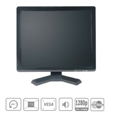 LC-ME1902-BNC 19 Inch commercial LCD CCTV monitor (plastic case)