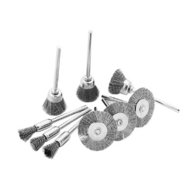 MK-WEL-13015 MINI S/STEEL WIRE CUP BRUSH WITH SHANK