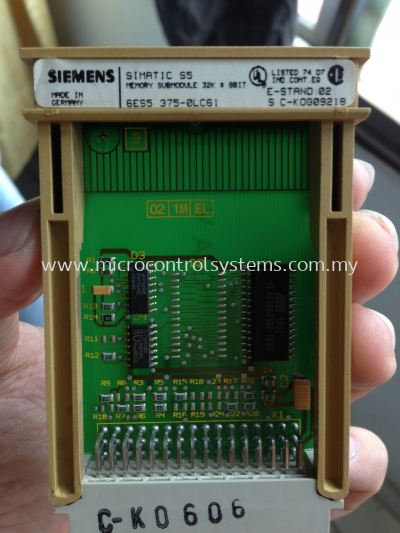 Siemens S5 CPU 95 With Memory Card Systems Testing