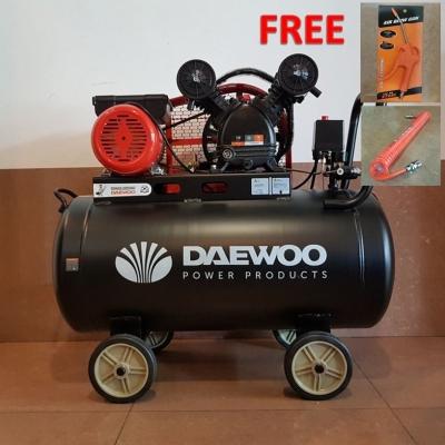 KOREA DAEWOO DAAC10025 100L BELT AIR COMPRESSOR