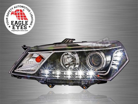 Saga FL Projector LED Starline Head Lamp 10-16