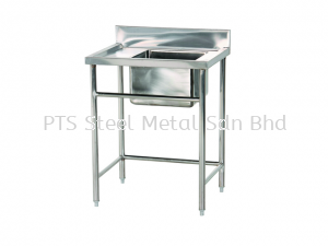 ss single bowl sink table