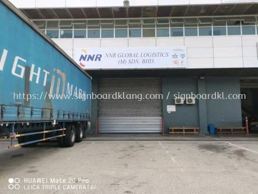 NNR Global logistics (M) sdn bhd normal metal signage signboard at Sepang KLIA airport Kuala Lumpur