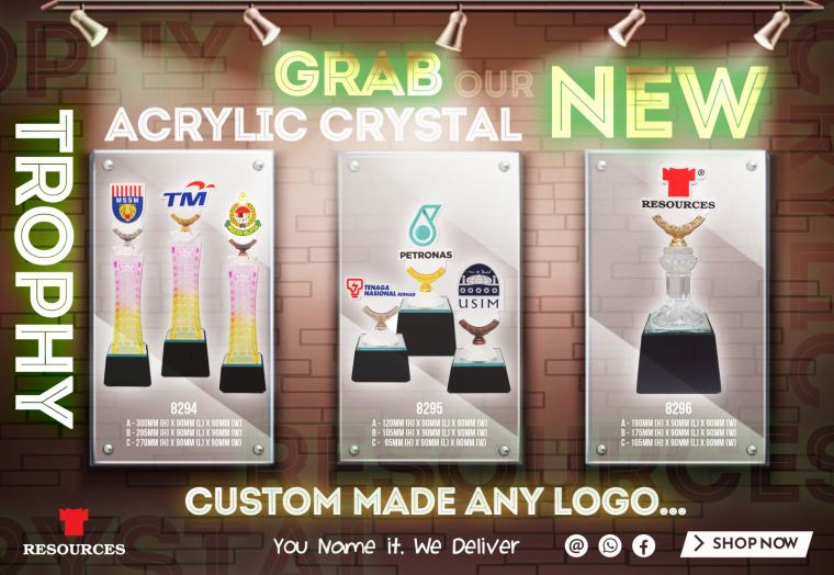 Grab Our NEW Arcrylic Crystal Trophy!!!