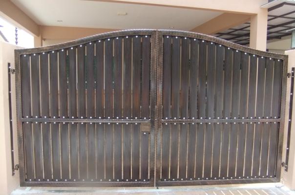 锻铁配铝制铁闸大门设计参考