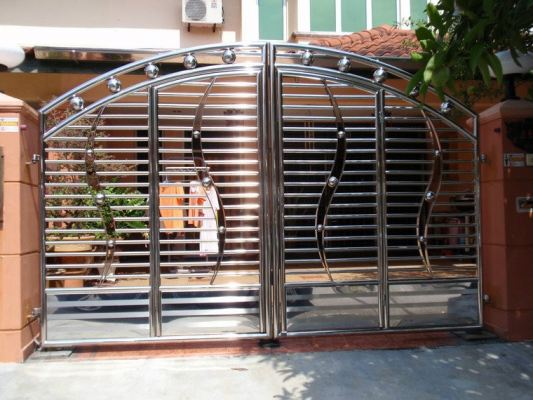 Stainless Steel Gate Design Suitable Malaysia