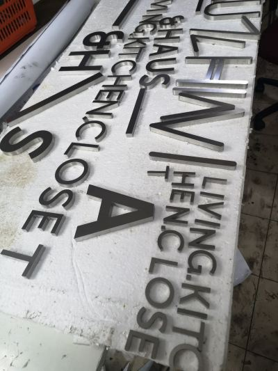 Stainless Steel 3D box up lettering
