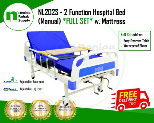 NL202S [Full Set] Hospital Bed 2 Function (Manual)