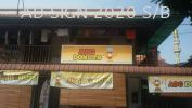 ABG Donuts Restoran / Restaurant / Cafe / Kafe / Kopitiam Signboard without Light