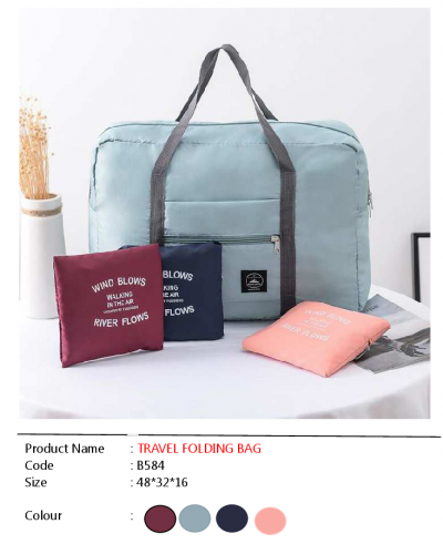 ��B584��TRAVEL FOLDING BAG