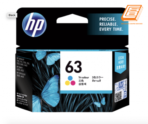HP - 63 Tri-Colour Ink Cartridge (Original)