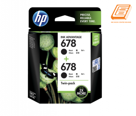 HP - Twin-Pack 678 Black Ink Cartridge (Original)