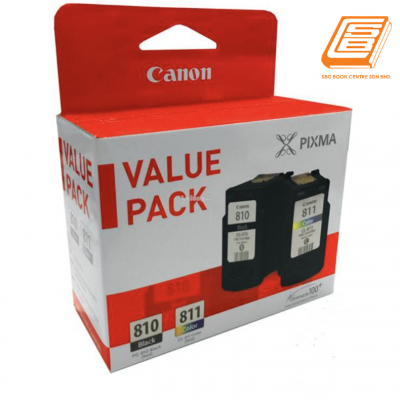 Canon - Value Pack PG-810 Black + CL-811 Colour Ink Cartridge (Original)