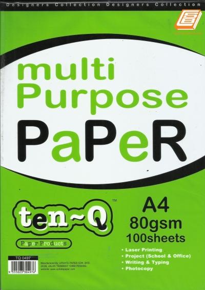 Update - A4 Multi Purpose Paper 80gsm x 100s - (TQ 0497)